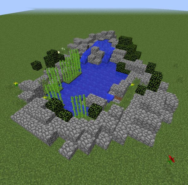 how to make a pond in minecraft