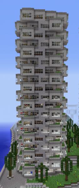Big Futuristic Apartment Building 1 Grabcraft Your