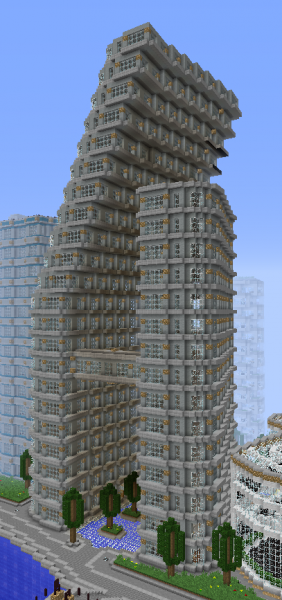 Big Futuristic Apartment Building 3 Grabcraft Your