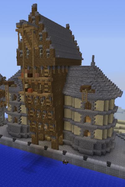 Big Medieval Harbour Crane House Grabcraft Your Number