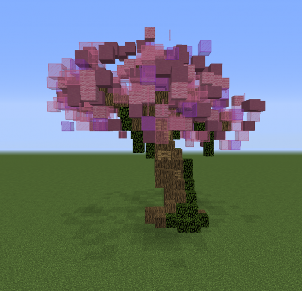 minecraft japanese tree minecraft cherry images reverse search - Minecraft Japanese Tree