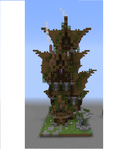 Elven Tall House Grabcraft Your Number One Source For