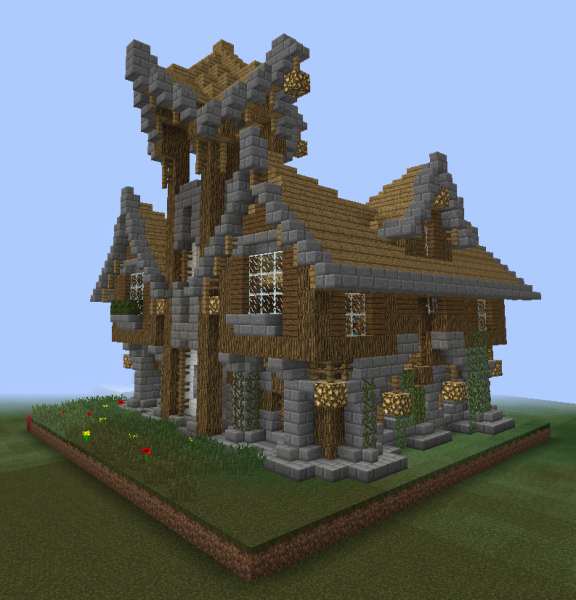 Fantasy Wooden Mansion 1 GrabCraft Your Number One