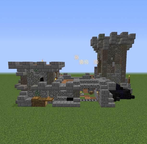 Fantasy world small castle grabcraft your number one for Small castle designs