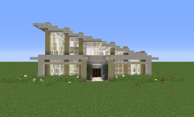 Glass Modern House - GrabCraft - 343.7KB