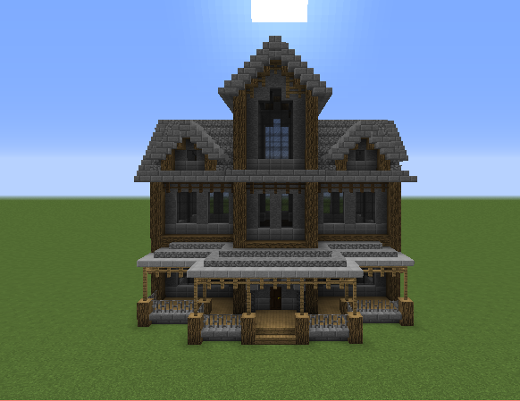 Haunted Mansion on Minecraft Cobblestone House Designs