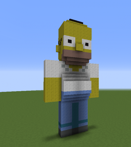 Amazing Homer Simpson Statue Grabcraft Your Number One Source With Maison Minecraft
