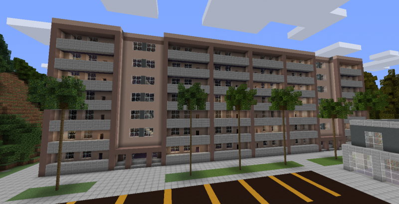 Huge Apartment Building GrabCraft Your Number One Source For MineCraft Bu