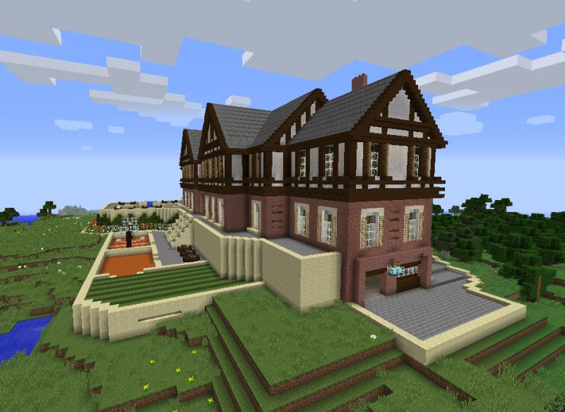 Huge Modern Mansion Grabcraft Your Number One Source