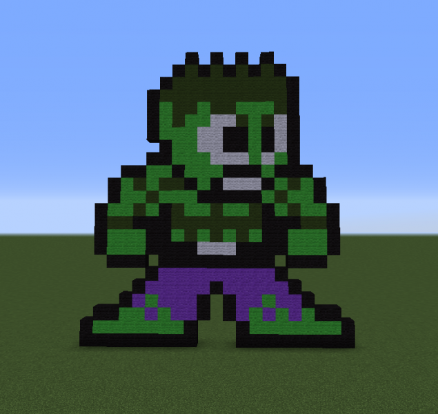 hulk pixel art for - photo #23