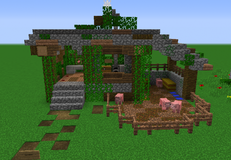 how to make a jungle house in minecraft