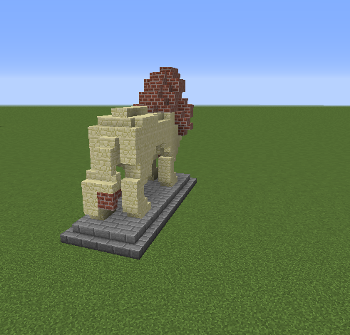 Minecraft small lion statues