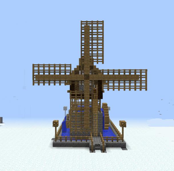 Minecraft Water Wheel Blueprints