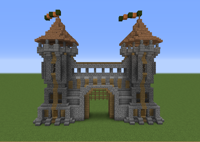 Medieval Houses on Minecraft Cobblestone House Designs