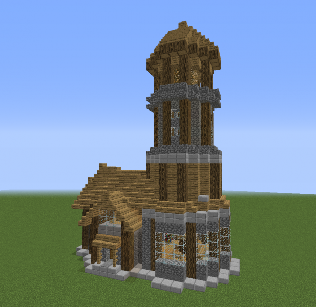 how to build a lighthouse in minecraft