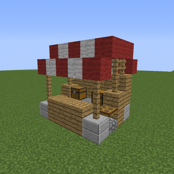how to build market stalls minecraft