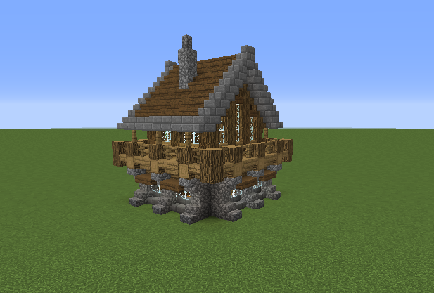 Blocks you ll need. Medieval Rustic Log Cabin 1   GrabCraft   Your number one source