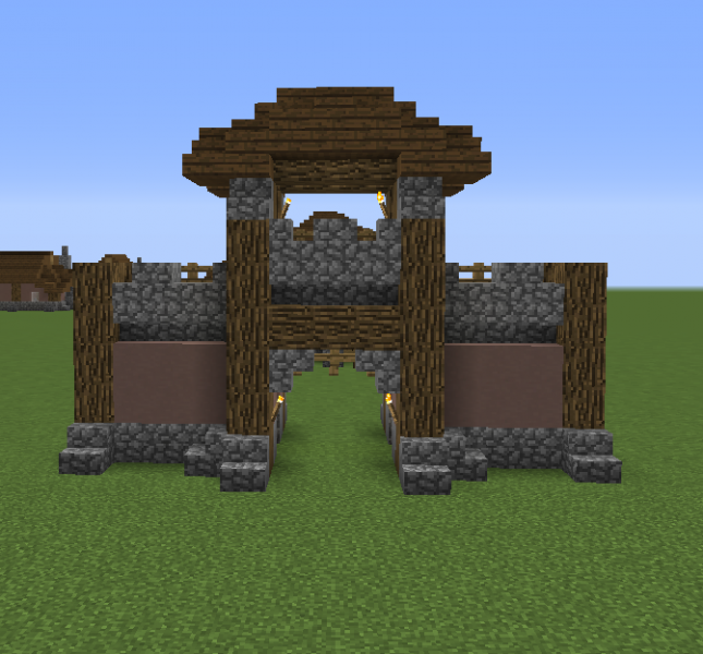 how to create a gate in minecraft