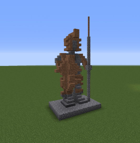Medieval Spearman Statue Grabcraft Your Number One