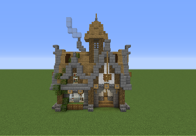 Medieval Survival House on Minecraft Cobblestone House Designs