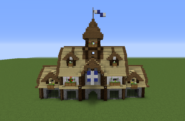 Medieval Town Hall 1 Grabcraft Your Number One Source