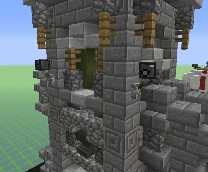 Military base tower with wall grabcraft your number for Minecraft base blueprints