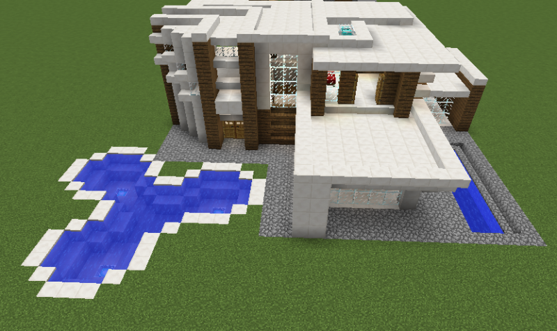 Modern house 7 grabcraft your number one source for for Minecraft modern house 7x7
