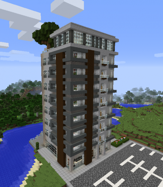 Modern Luxury High Rise Building GrabCraft Your Number