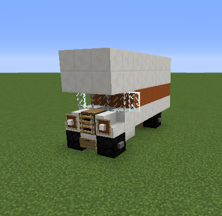 how to build a fire truck on minecraft