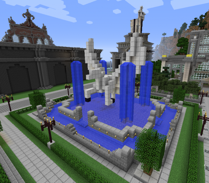 Pegasus Fountain Grabcraft Your Number One Source For Minecraft Buildings Blueprints Tips