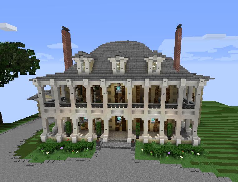Plantation mansion grabcraft your number one source for Minecraft mansion blueprints