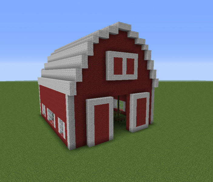Red barn 2 grabcraft your number one source for How to build a farmhouse