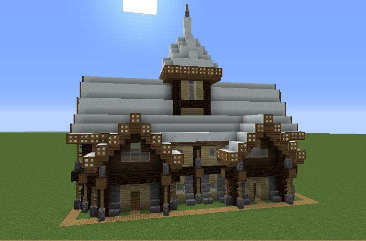 Rustic Medieval Snowy House 2 - - 369.2KB