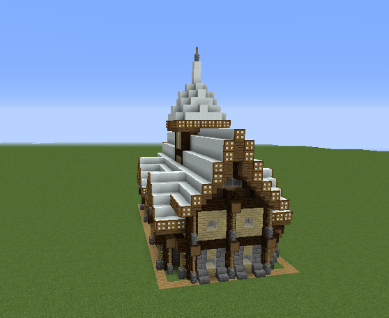 Rustic Medieval Snowy House 2 Grabcraft Your Number
