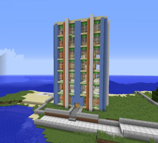 Minecraft Apartment: Simple Apartment Building