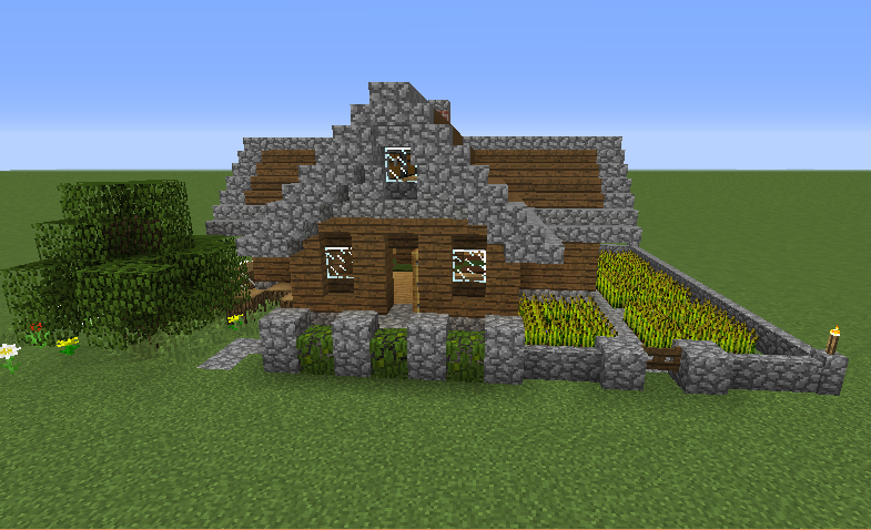 Simple starter house 4 grabcraft your number one for Small starter house plans