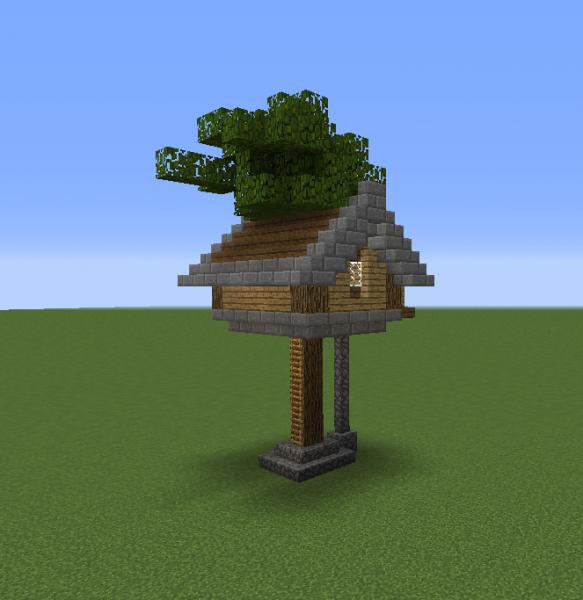 Tree Houses on Minecraft Cobblestone House Designs