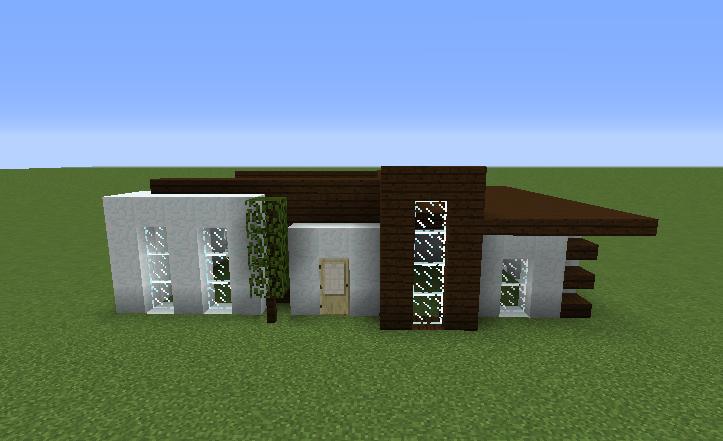 Simple survival modern house grabcraft your number one for Simple modern house minecraft