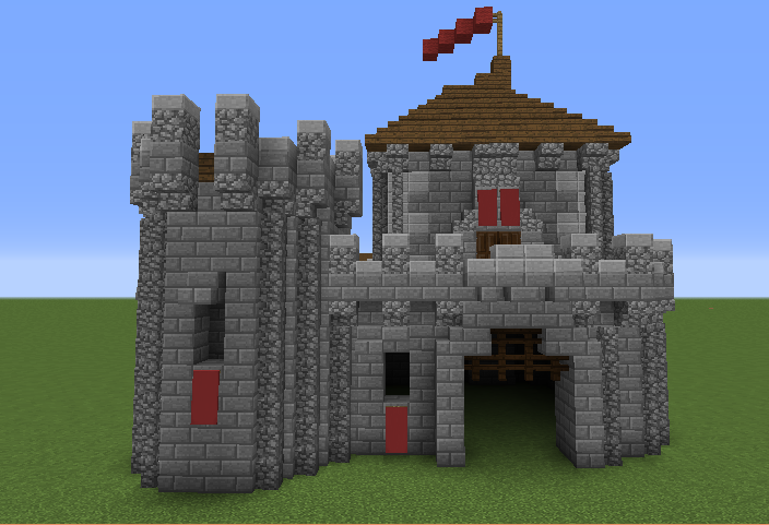 Small castle house plans minecraft escortsea for Small castle house