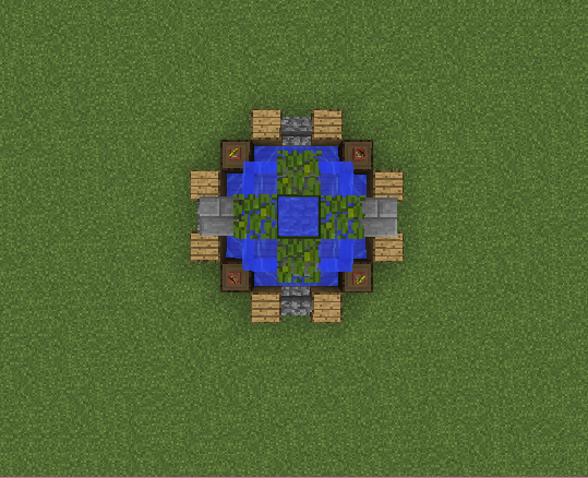 how to build water fountain in minecraft