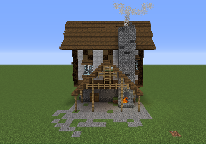 Small medieval town house grabcraft your number one for Small minecraft house blueprints
