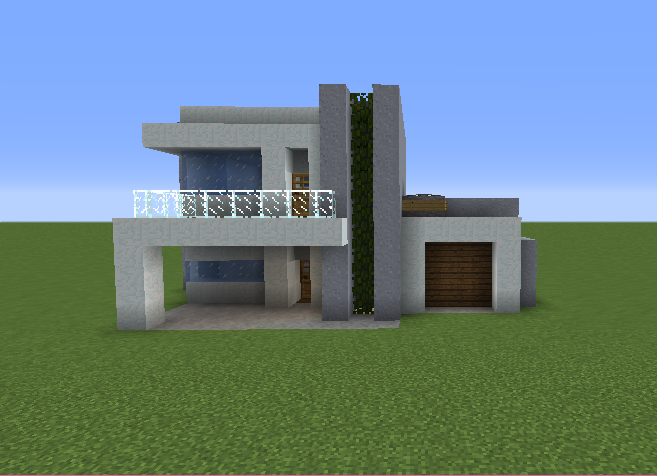Small modern house 2 grabcraft your number one source for Simple small modern house