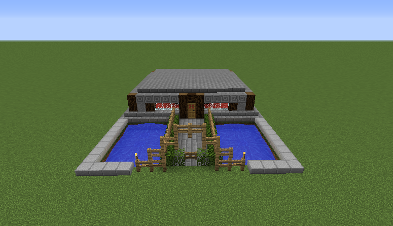 Small modern stone house grabcraft your number one for Small minecraft house blueprints