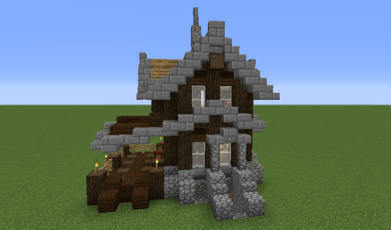 Minecraft simple house layouts
