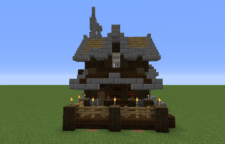 Small survival victorian house grabcraft your number for Small minecraft house blueprints