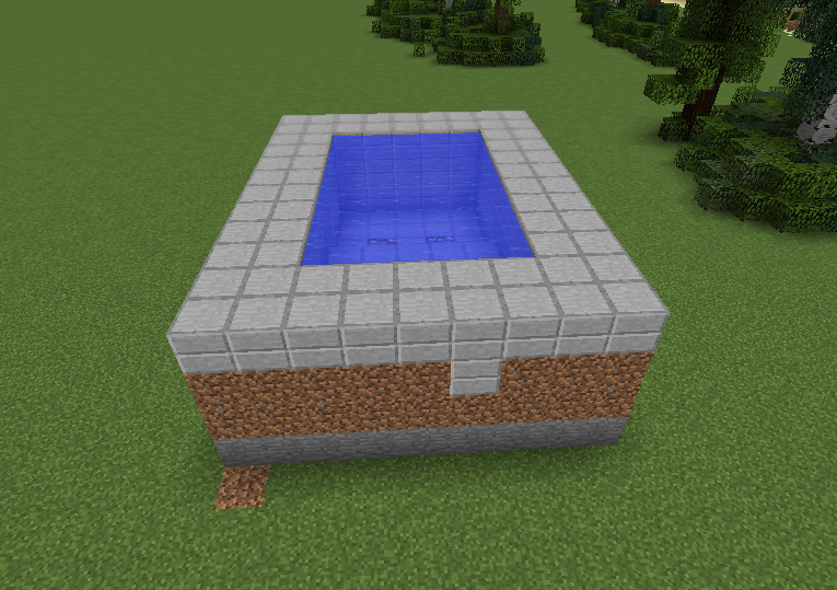 Small Swimming Pool Grabcraft Your Number One Source For Minecraft Buildings Blueprints