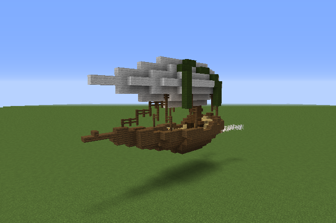 Steampunk Medieval Airship - GrabCraft - Your number one ...