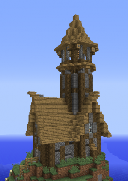 Unfurnished Medieval Lighthouse Grabcraft Your Number