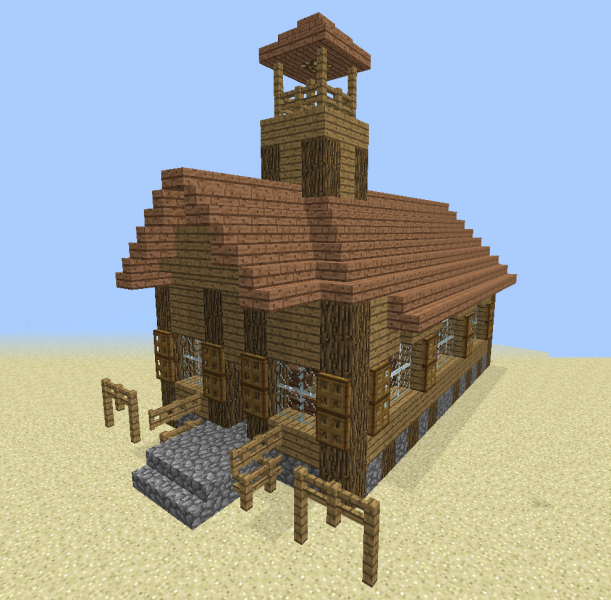 Minecraft western buildings