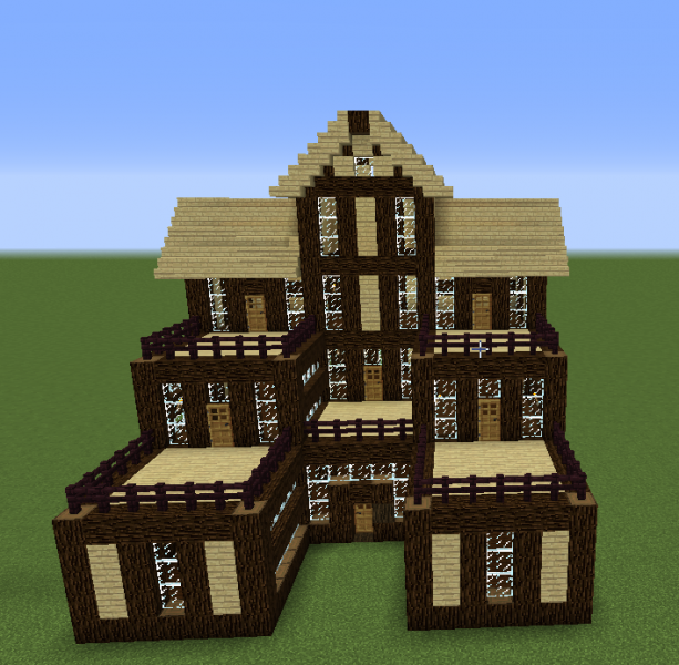 Wooden house 6 grabcraft your number one source for for House designs for large blocks